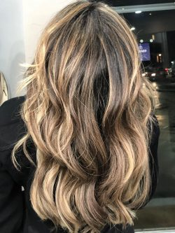 Sun-Kissed Highlights On Brunette- Aveda Salon | Kaplan Atelier - Holland Park Avenue, London