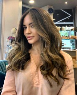 Beautiful Sun Kissed Highlights - Balayage - Hair Salon Client | Kaplan Atelier - Holland Park Avenue, London